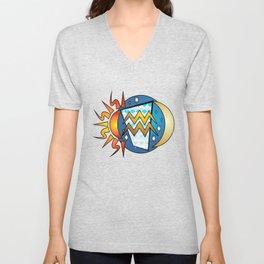 Astrology, Aquarius Unisex V-Neck