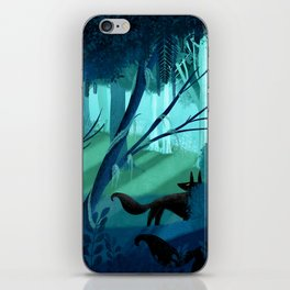 Shadow Wolves Stalk The Silver Wood iPhone Skin