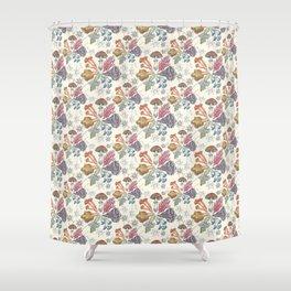 Mushroom Color Wheel Shower Curtain