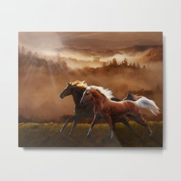 A Race at Sunset Metal Print