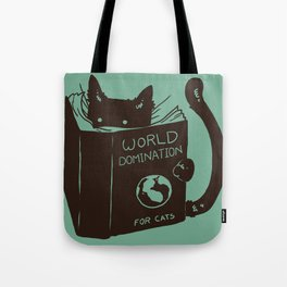 World Domination for Cats (Green) Tote Bag