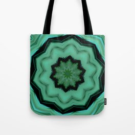 Twirly Mandala in Green Tote Bag