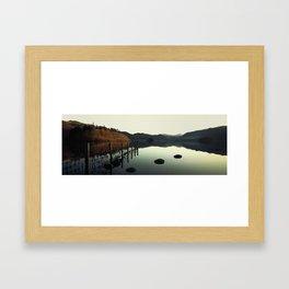 the lake Framed Art Print