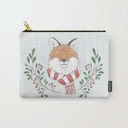 Holiday Fox Carry-All Pouch