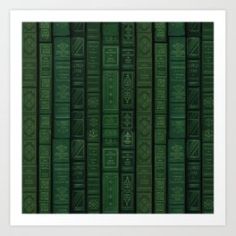 "Extravagant Design Series: Vertical Book Pattern ""Bookbag"" Art Print"