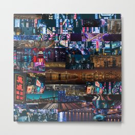 Cities of the world at night Metal Print
