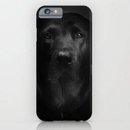 I met a girl (Black and white version) iPhone Case