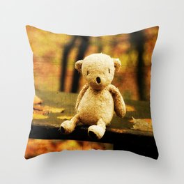 Taking the weight off my Paws Throw Pillow