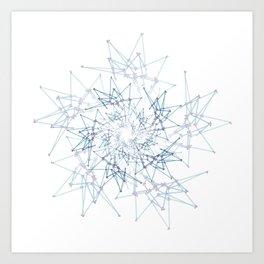 blue espiral Art Print