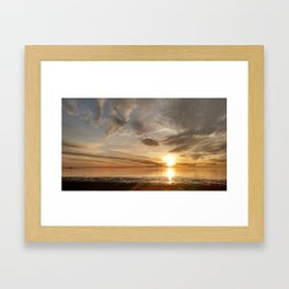 Another shot of Breath-Taking Sunrise at Penfield Beach Framed Art Print