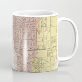 Vintage Map of Indianapolis Indiana (1903) Coffee Mug