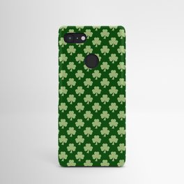 Shamrock Clover Polka dots St. Patrick's Day green pattern Android Case