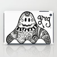 greg guillemin iPad Cases featuring Greg the Ghost by Wealie