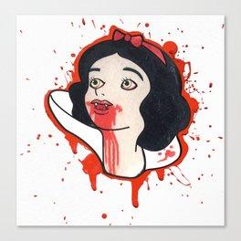 Snow Red Canvas Print
