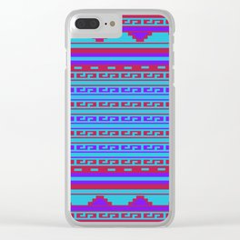 Mexican Aztec ethnic pattern Clear iPhone Case