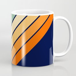 Farida - 70s Vintage Style Retro Stripes Coffee Mug