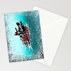 ride hard - snow Stationery Cards