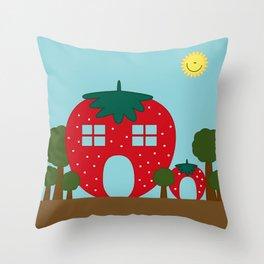 Vege House Throw Pillow