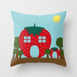 Vege House Throw Pillow