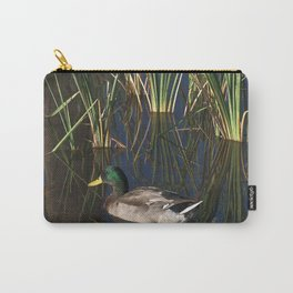 The Duck On The Pond At Papago Park Carry-All Pouch