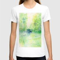 central park T-shirts featuring Summertime in Central Park by SuisaiGenki