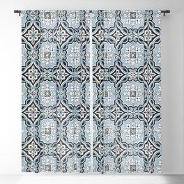 Portuguese Tile Motif Pattern Decorative Blackout Curtain