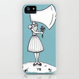 Nancy Can't Even (Aqua Background) iPhone Case