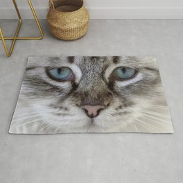 Cat with Blue Eyes Rug