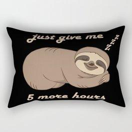 Sloth - 5 More Hours Rectangular Pillow