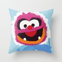 muppets Throw Pillows featuring Animal Muppets Babies by Roe Mesquita