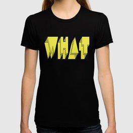 WHAT: Yellow T-shirt