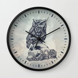 Key of wisdom Wall Clock