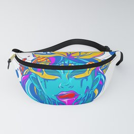 Psychedelic colourful hippie tripping on acid girl Fanny Pack