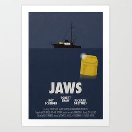 Jaws tribute poster Art Print