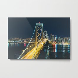 Bay Bridge Long Exposure - San Francisco, California Metal Print
