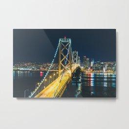 Bay Bridge Long Exposure - San Francisco, California Metal Print