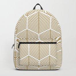 Modern Geometric Honeycomb Leaves Backpack