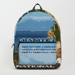 Vintage poster - Acadia National Park Backpack