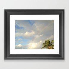 Palm Sky Rainbow, St. John, USVI, Caribbean Framed Art Print