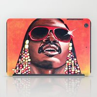 stevie nicks iPad Cases featuring Stevie Wonder by Laura-A