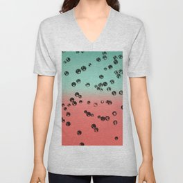 Summer Vibes Crystal Stones #1 #coral #mint #decor #art #society6 Unisex V-Neck