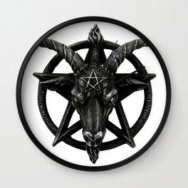 Baphomet Satanic Church Goat Head Wall Clock