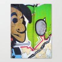 grafitti Canvas Prints featuring Grafitti Boy by Paulbo