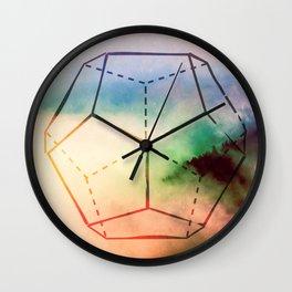 The Elements Geometric Nature Element of Spirit Wall Clock