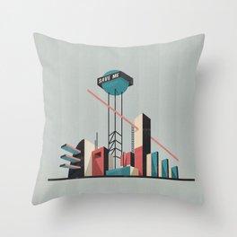 Save me city Throw Pillow