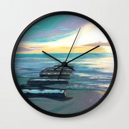 Broken Pier Wall Clock