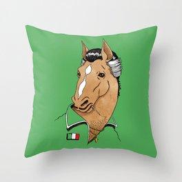 Italian Stallion Throw Pillow