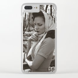 Silent Reflections Clear iPhone Case