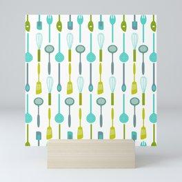 AFE Kitchen Utensils Pattern Mini Art Print
