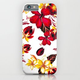 t red flowers iPhone Case